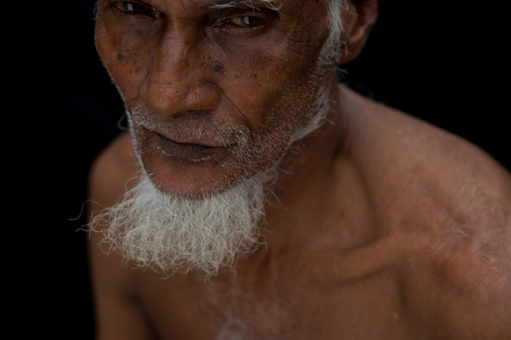 """A.Z.,"" 78, fled Myanmar Army-led attacks in northern Rakhine State 16 days after it began. ""They were burning villages,"" he recalled. ©Saiful Huq Omi, Counter Foto, Cox's Bazar District, Bangladesh, August 2019"
