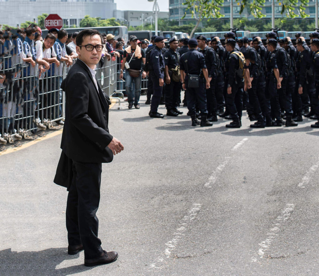 Eric Paulsen outside the Federal Court following the conviction of political opposition leader Dato' Seri Anwar Ibrahim in February 2015. ©Eric Paulsen, 2015