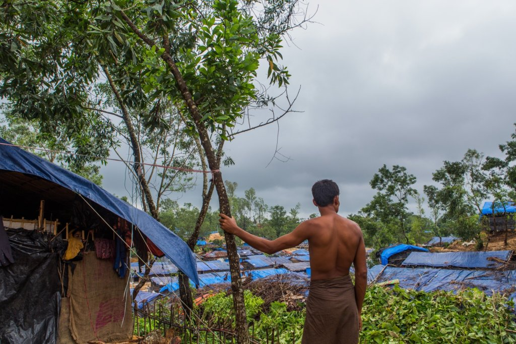 A Rohingya refugee in one of the refugee camps in Cox's Bazar, Bangladesh. He fled his home in Sin Thay Pyin village, Myanmar in December following military-led attacks on Rohingya civilians in Myanmar. ©Reza Shahriar Rahman, 2017