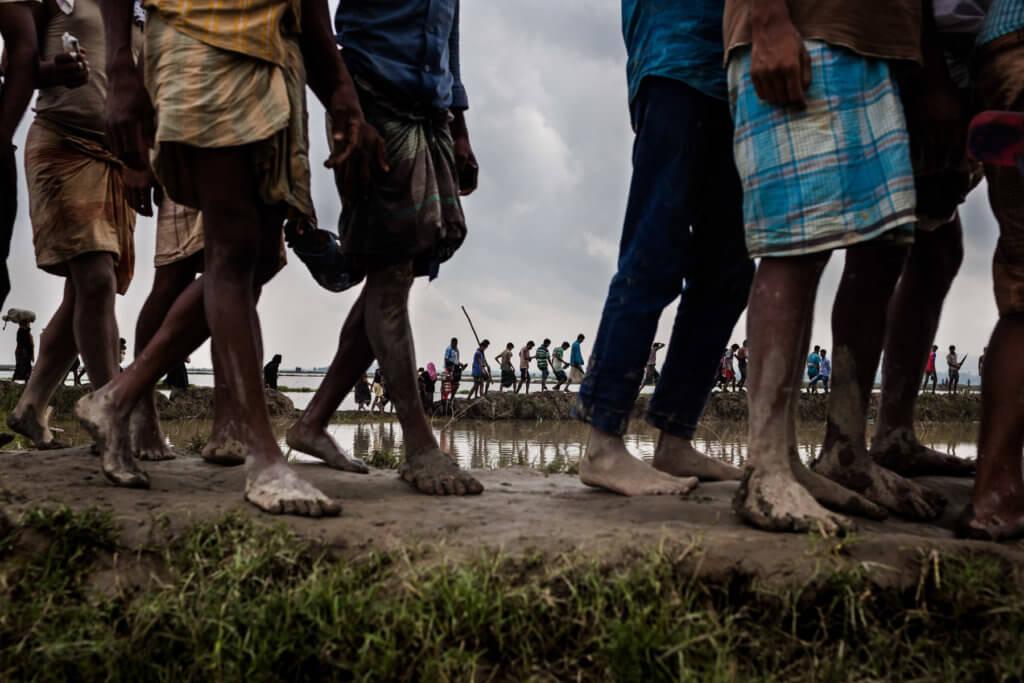 Rohingya refugees from Myanmar arriving in Bangladesh. Patrick Brown © Panos/UNICEF 2018
