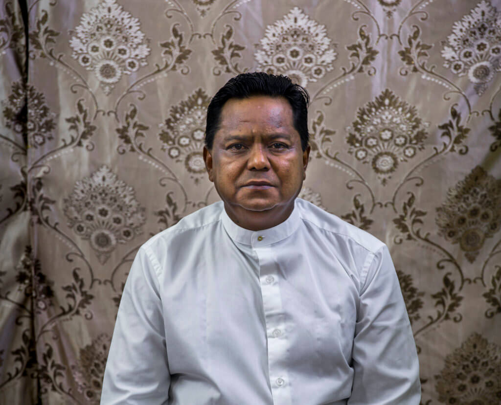 Abdul Rasheed registered to run for Parliament to represent Sittwe Township. He was rejected, appealed, and the Election Commission will rule on his case on August 20. ©Hkun Lat, August 2020
