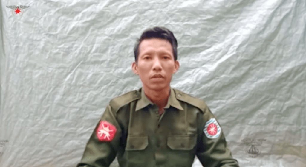 Private Myo Win Tun, 33, of Myanmar Army LIB 565, confesses to rape and killing Rohingya women, men, and children in Taung Bazar village and surrounding villages in Buthidaung Township in September 2017. ©Arakan Army, July 23, 2020