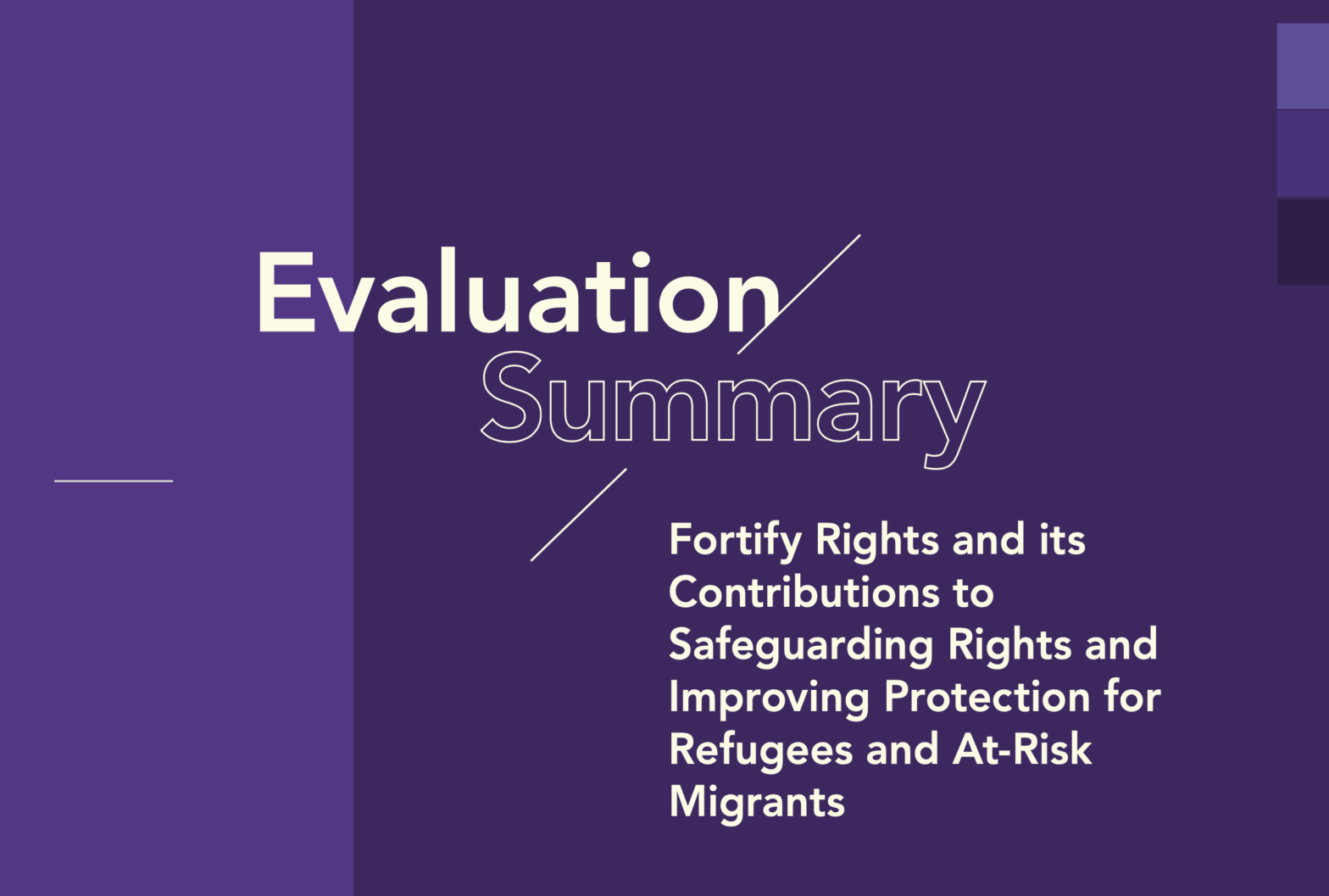 Independent Evaluation of Fortify Rights's Contributions to Human Rights